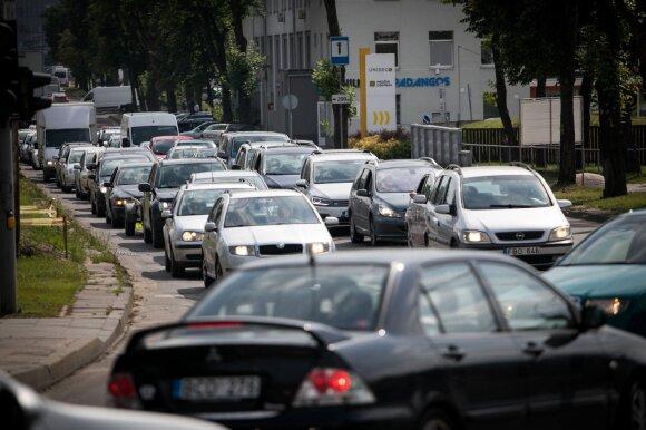 Automobilių spūstis Vilniuje