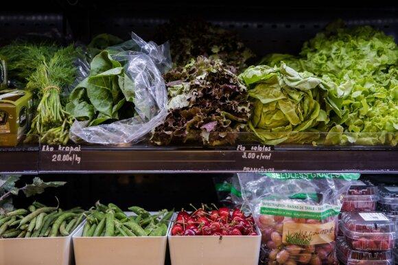 Daržovės parduotuvėje