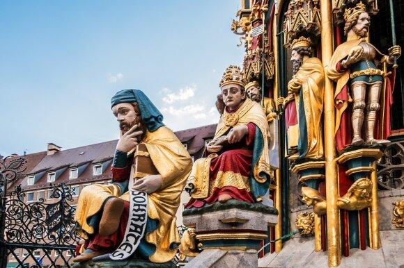 Gražusis fontanas Nuremberge