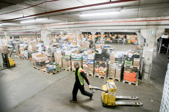 Worker at a warehouse