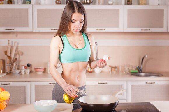 Mityba sportuojant: kaip riebalus deginti efektyviau