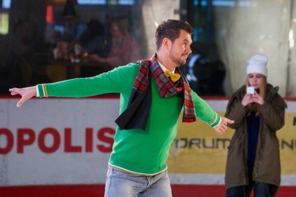 Ledo šokių projekte – netikėtas vedėjų duetas