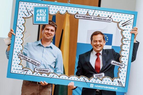 """""""Europos egzamino 2019"""" finalistas Jonas Urbanavičius (kairėje)"""