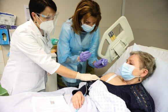 Skiepijimas nuo koronaviruso Kauno klinikose