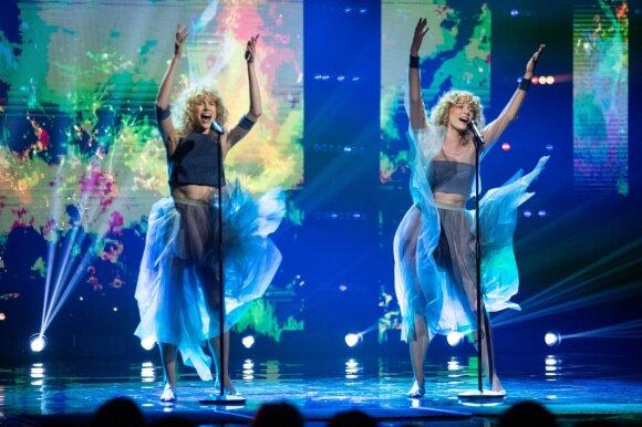 """Pirmajame nacionalinės """"Eurovizijos"""" atrankos pusfinalio filmavime – išryškėję favoritai ir kardinaliai pasikeitę pasirodymai"""