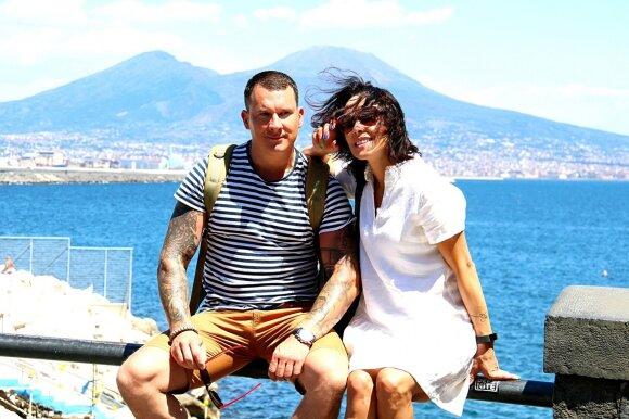 Karolis Sakalauskas su žmona Jolanta