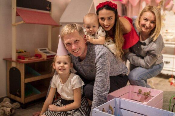 Viktorija Mauručaitė su šeima