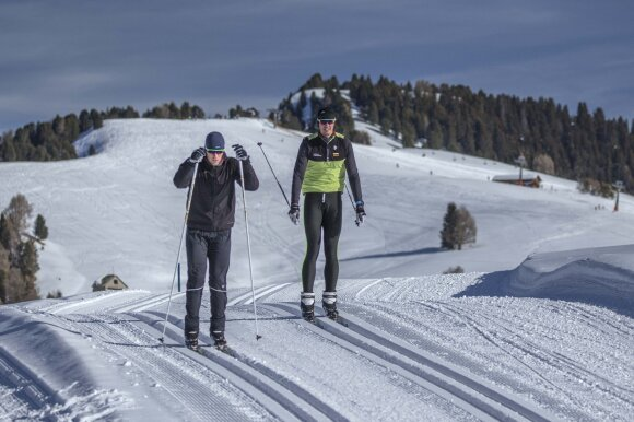 Aurimo Adomavičiaus ir Dominyko Jančionio žiemos treniruotė žiemą / Foto: LIF