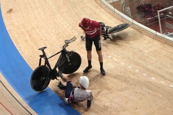 Avarijos olimpinėse dviračių treko varžybose