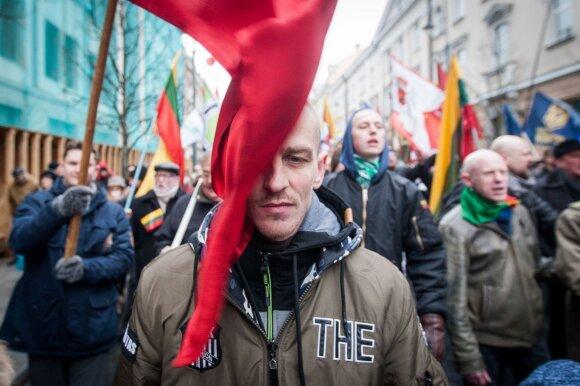 Kovo 11-osios eitynių vykusių Vilniuje Gedimino prospekte dalyvio portretas