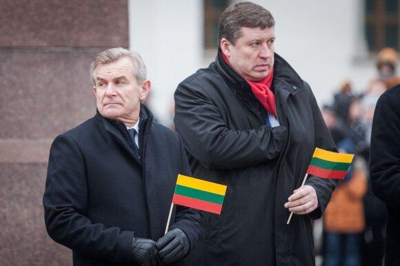 Viktoras Pranckietis ir Raimundas Karoblis