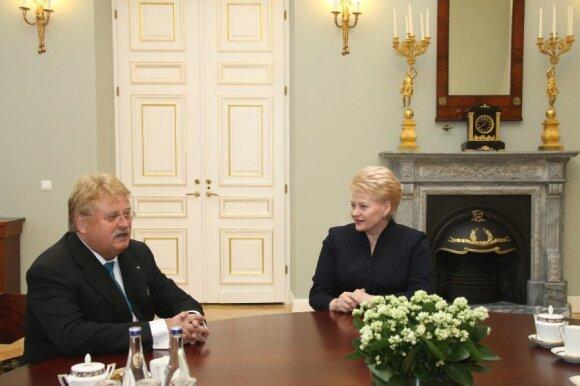 Dalia Grybauskaitė susitiko su Elmaru Broku