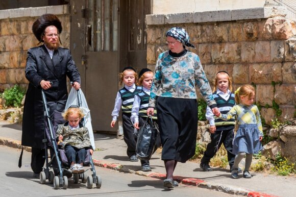 Žydų ultraortodoksų šeima