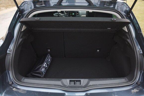 """Renault Megane"" bagažinės dydis 434l"