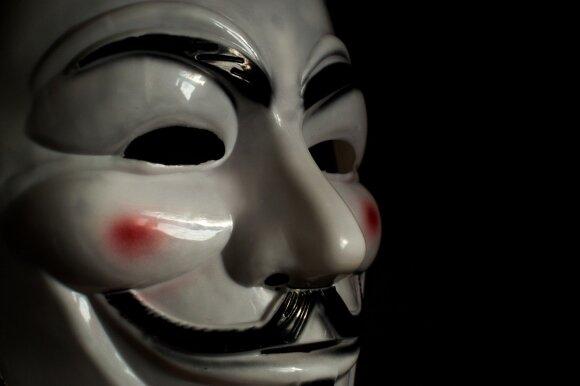 Guy Fawkes'ą simbolizuojanti kaukė