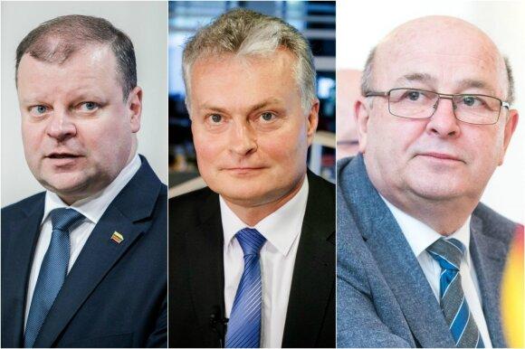 Saulius Skvernelis, Gitanas Nausėda ir Visvaldas Matijošaitis