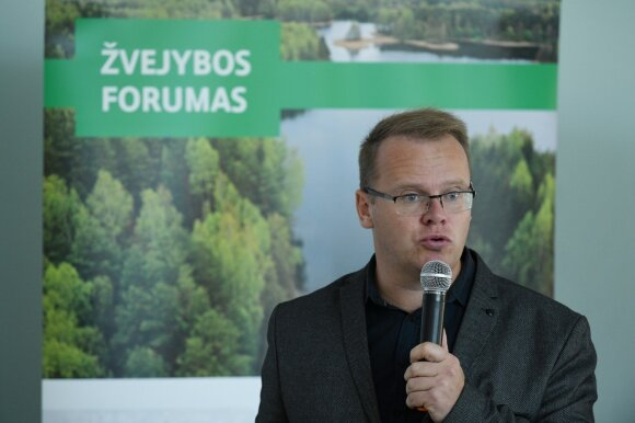 Aplinkos ministerijos organizuoto žvejybos forumo akimirka