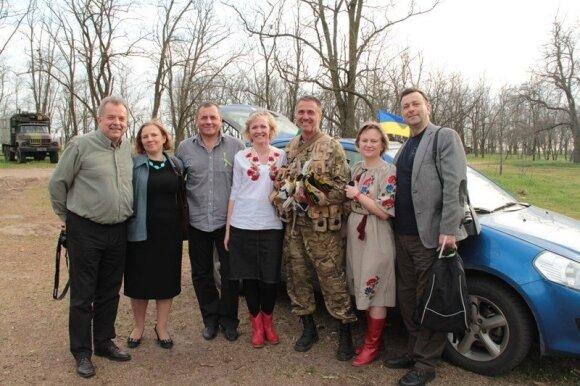 Lietuviai Ukrainoje: kas justi kariniame dalinyje prie Krymo