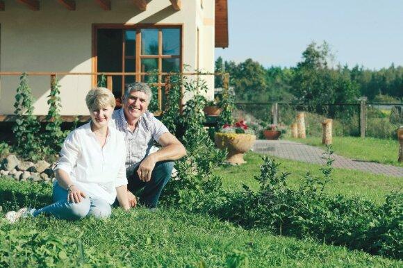 Mindaugas Vyskupaitis su žmona Gražina