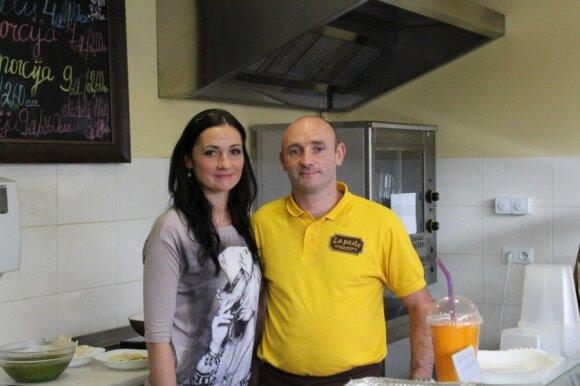 Sandra Jaraitytė-Scippa su vyru Vincenzo
