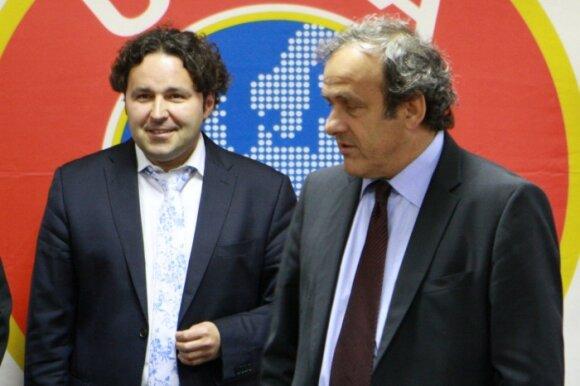 Liutauras Varanavičius ir Michelis Platini