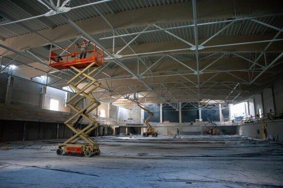 Kaune sparčiai kyla naujoji ledo arena
