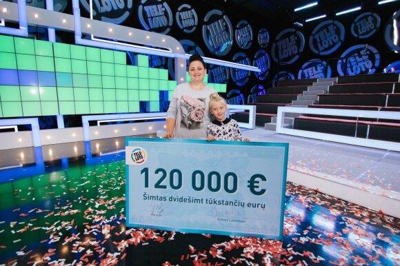 Loterijos laimėtoja