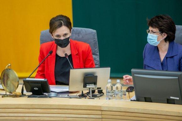 Čmilytei-Nielsen nepavyko sužinoti, kiek Seimo narių turi imunitetą: duomenų nepateikė viena frakcija