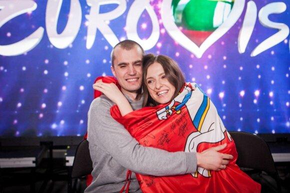 Ieva Zasimauskaitė su vyru Mariumi