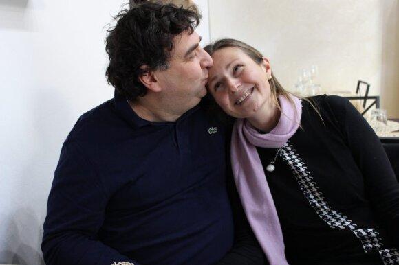 Venta Jankauskaitė-Mengana su vyru