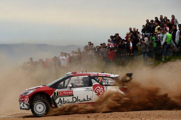WRC etapą Portugalijoje laimėjo K. Meeke, o MotoGP lenktynes Italijoje – J. Lorenzo