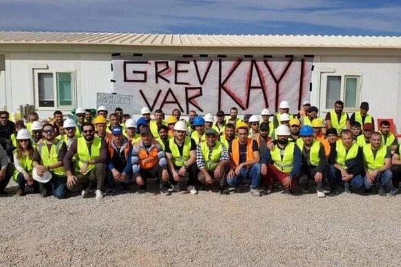 """Kayi Construction"" darbininkai streikuoja Alžyre"