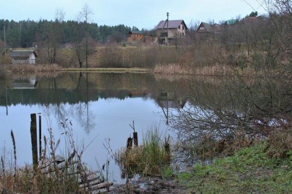 Tvenkinys Kauno raj. vėlų rudenį