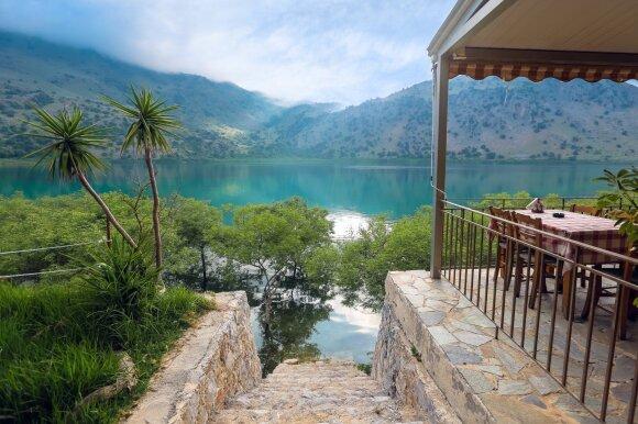 Kournas ežeras, Kreta