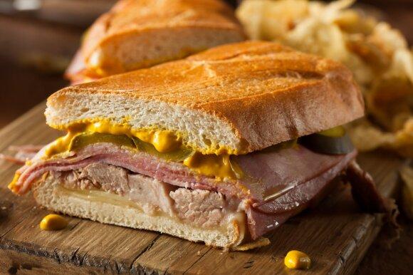 Kuba, suvožtinių duona pan Cubano