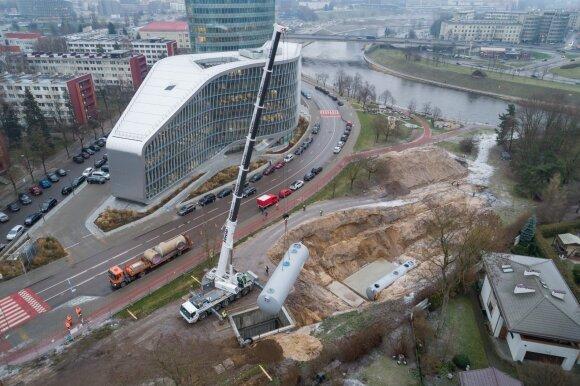 Vilniuje statoma moderni požeminė lietaus nuotekų valykla
