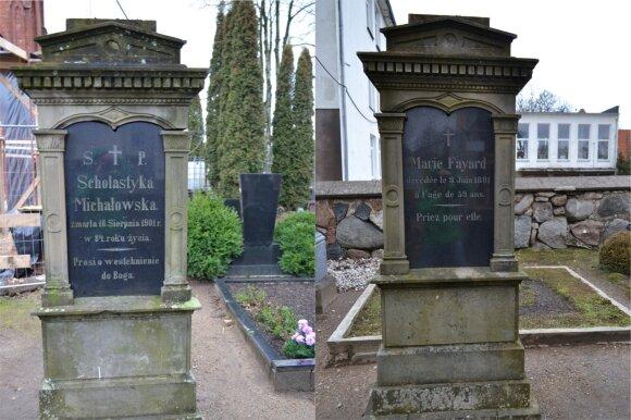 Grafų Tiškevičių šeimos guvernančių kapas šiandien.