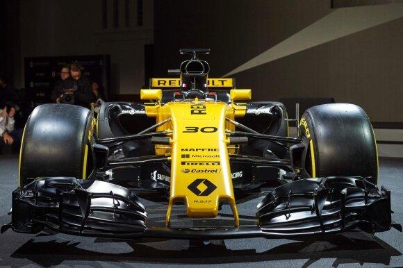 """F-1 """"Renault"""" naujas automobilis"""
