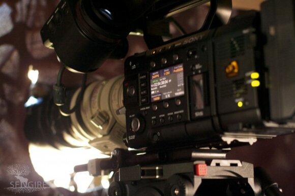 """Brangi filmavimo kamera. Filmo """"Sengirė"""" filmavimo akimirkos"""