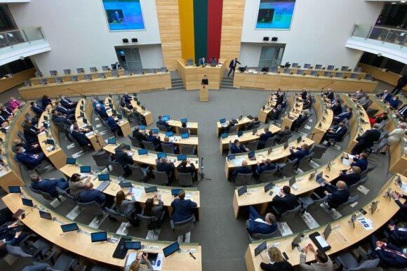 Dėl koronaviruso protrūkio darbas Seime keisis: įveda ribojimus, savaitei stabdo posėdžius