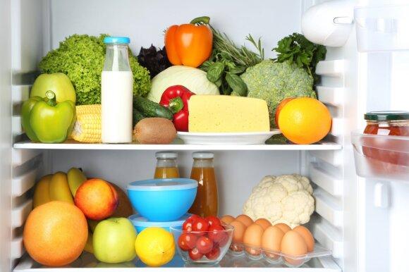Daržovės šaldytuve