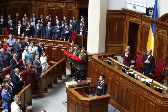 Volodymyras Zelenskis Aukščiausioje Radoje