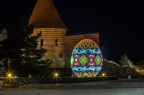 Giant Easter egg in Kaunas