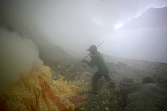 Sieros kasykle Ijeno ugnikalnyje