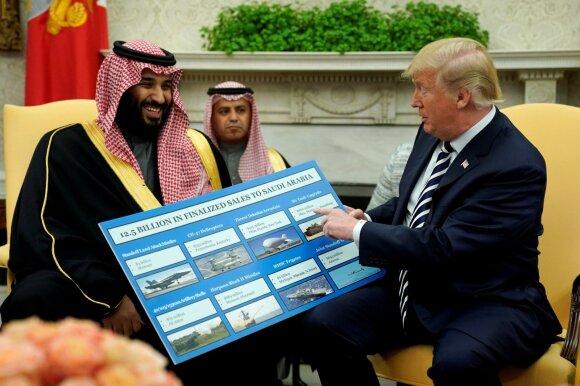Mohammedas bin Salmanas, Donaldas Trumpas
