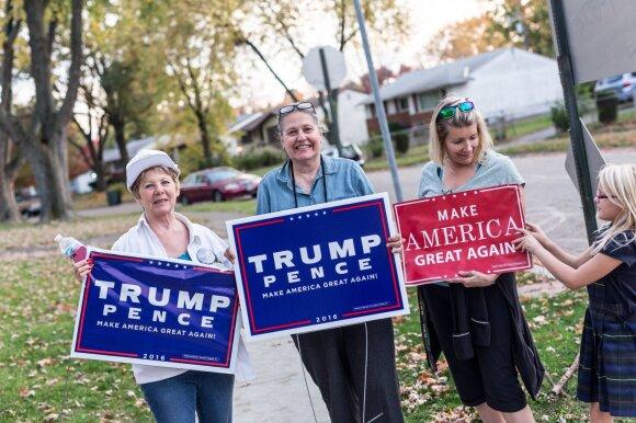 Amerika renkasi. Moterys už Trumpą