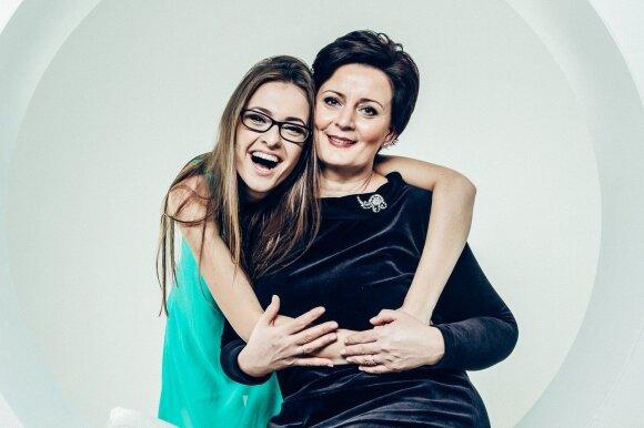 Ieva Zasimauskaitė su mama Audrone