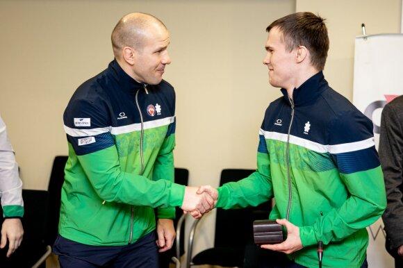 Mindaugas Ežerskis (kairėje)