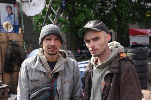 Maidano muziejaus įkūrėjai: Michailo (kairėje) ir Dmitro