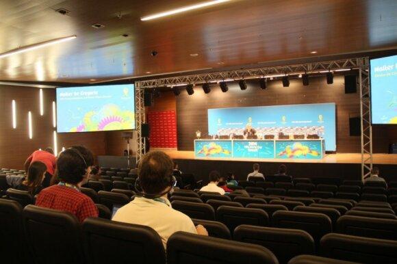 Spaudos konferencija apie dopingo kontrolę pasaulio čempionate